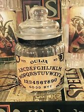 Ouija Board Witch Jar altar herb goth wiccan Pagan Halloween candle holder decor