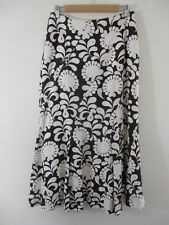 Laura Ashley NWOT Maxi skirt 100% linen Choc&cream lge floral.Party.Occasion.
