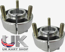 Kart Pair of 30mm Short Silver Wheel Hubs with Studs Best Price on Ebay