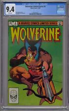 WOLVERINE LIMITED SERIES #4 CGC 9.4 WHITE PAGES!!!