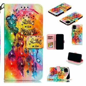 Wind Chimes Fashion 3D Hot Flip Wallet Bracket Case Back Cover For Various Phone