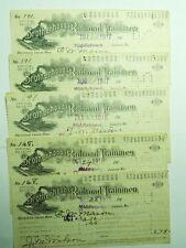 BROTHERHOOD OF RAILROAD TRAINMEN OFFICIAL MEMBERSHIP DUES RECEIPT 1917-1918