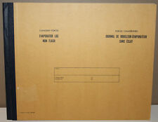 Canadian Forces Evaporator Log Book Non Flash 863A (11-81) 7530-21-887-9661 Navy