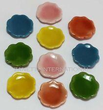10-Piece Dollhouse Miniature Ceramic Plates Set Doll Mini Food Dish Saucer c54
