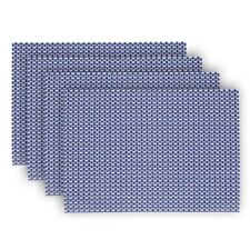 Denby Set Of 4 Woven Imperial Blue Placemats