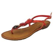 Calzado de mujer rojos sintético talla 38.5