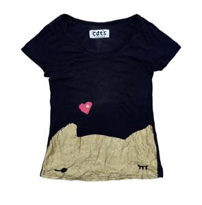 Tsumori Chisato Cat Issey Miyake Woman 's T Shirt Black Size M