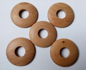 1x WOODEN Radiator Pipe Cover For 15mm Pipes, Wood :  Beech Low profile 5mm