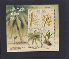 COCOS Islands 1988 LIFE CYCLE of the COCONUT minisheet MNH - PALM Trees.Flora