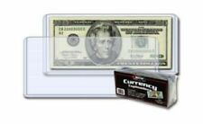 5 BCW Large Banknote Holder Rigid Toploader Case 7 9/16 X 3 1/4 Topload