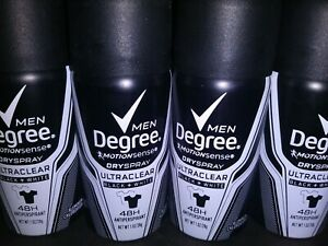 DEGREE Men Ultraclear Black + White Antiperspirant Dry Spray 1oz Travel LOT of 5