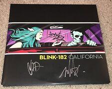 BLINK 182 SIGNED CALIFORNIA ALBUM MARK HOPPUS TRAVIS BARKER & MATT SKIBA w/PROOF
