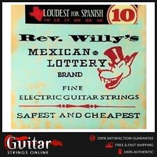 Dunlop Rev Willy's Mexican Lottery Brand Electric Guitar Strings 10-46 New