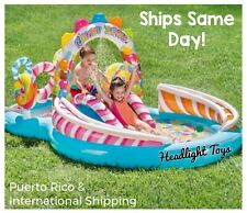 Intex Candy Zone Kids Inflatable Swimming Pool Play Center Slide 116 X 75 X 51