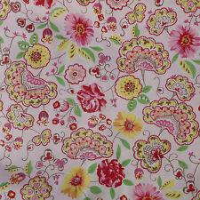 "La Zagala Fabric 1 Yard Hilco Pink Cotton European HTF 60"" Wide Germany Rare"