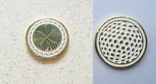 1 only CLOVER GOLF BALL MARKER approx 23mm CELTIC DESIGN 4 Leaf