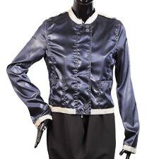 Armani Jeans Women's Striped Military Style Jacket Dark Blue/White Size 8