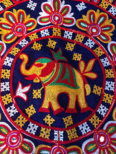 2 Round Pillow Covers NEW Indian Elephant Bohemian Indian