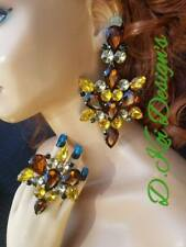 Jewelry Drag Queen Large Brown Topaz Set Dragqueen Custom Large Pageant Bling