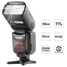 Speedlite K&F Concept KF590N Prol Camera Flash I-TTL, GN 56  Wireless Nikon DSLR