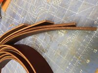 HEAVY BROWN Bridle Leather BELTS DOG COLLAR Blanks belt blanks