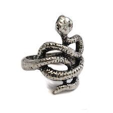 Silver Metal Snake Knot Ring - Gothic Biker Rock Punk- Cobra Slytherin SKR 65