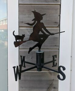 Witch (Pretty) Acrylic Garden Weather Vane Wall, Pole or Post Mounted