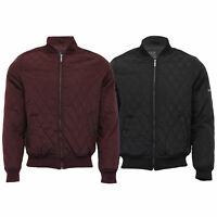 Mens MA1 Jacket Dissident Coat Padded Baseball Style Quilted Bomber Winter New