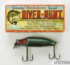 Vintage Heddon River Runt Spook Floater 9400 Fishing Lure Rare Scoop Lip.