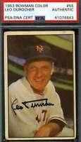 Leo Durocher Psa Dna Coa Autograph 1953 Bowman Authentic Hand Signed