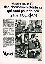 PUBLICITE ADVERTISING 045  1969  MARBOT   chaussures enfants Corfam