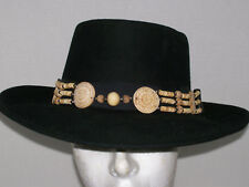 Hat Band ~ Unisex ~ Western Cowboy / Cowgirl ~Natural Hand Tooled Bone & HORN
