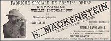 Publicité  appareil photo H. MACKENSTEIN  vintage print ad  1899 - 10h