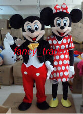 A pair Mickey Minnie couple Mouse 2 mascot costume Adult Unisex Fancy Dress
