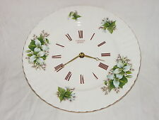 "ROYAL ALBERT TRILLIUM PORZELLAN KÜCHENUHR WANDUHR BONE CHINA ENGLAND   ""RAR"""