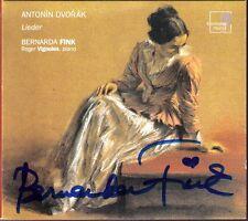Bernarda FINK Signed DVORAK Lieder Gipsy Love Song Písne Op.2 Op.82 VIGNOLES CD