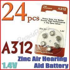 24x A312 PR41 7002ZD 1.4V Zinc Air Hearing Aid Battery