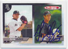 GIO GONZALEZ CHICAGO WHITE SOX SIGNED 2005 CARD WASHINGTON NATIONALS OAKLAND A'S