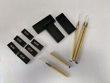 Japanese Miniature Calligraphy Sets (E50)