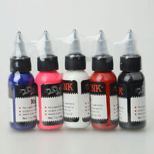 New Complete 5 Colors Tattoo Ink Set Kit 30ML Tattoo Pigment Suppply 1oz USA