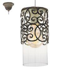 Lampadario vintage marrone con vetro trasparente 1 luce D.12 GLO 49201 Cardigan