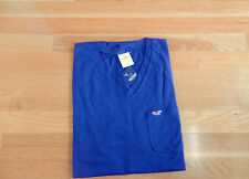 NWT Men Hollister Wipeout  Muscle Tee Large Blue by Abercrombie