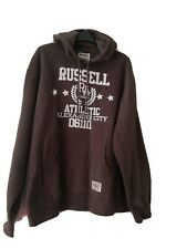 BNWT Men's brown Russell athletic Hoodied sweatshirt Size XXL