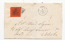W805-STATO PONTIFICIO-LETTERA DISINFETTATA DA ROMA A VITERBO 1867