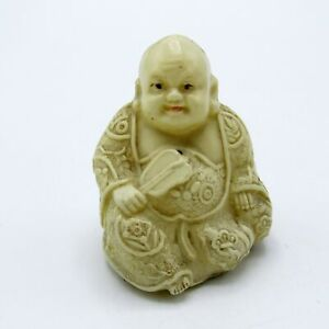 Antique Celluloid Sitting Buddha Tape Measure