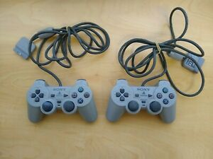 Official Sony Playstation 1 / PS1 Controllers / Game Pads X2 Untested