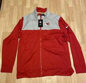 New Mens Nike Kansas City Chiefs Sideline Jacket Size Large NKB6-005Y MSRP $90