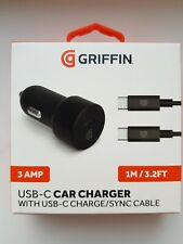 Griffin USB-C Car Charger With USB-C Charge/Sync Cable - Fast Charge - Free Post