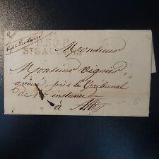 FRANCE MARQUE POSTALE LETTRE COVER P30P ST GAUDENS 5 JANV 1828