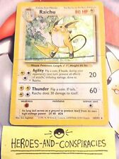 Pokemon Cards - Raichu HOLO #14/102 BASE set [EX] - RARE (1999)
